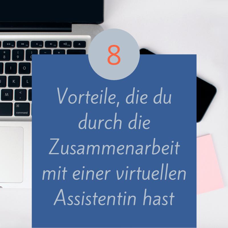 8 Vorteile, die du durch die Zusammenarbeit mit einer virtuellen Assistentin hast