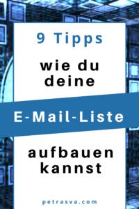 9 einfache Tipps, wie du deine E-Mail-Liste aufbauen kannst